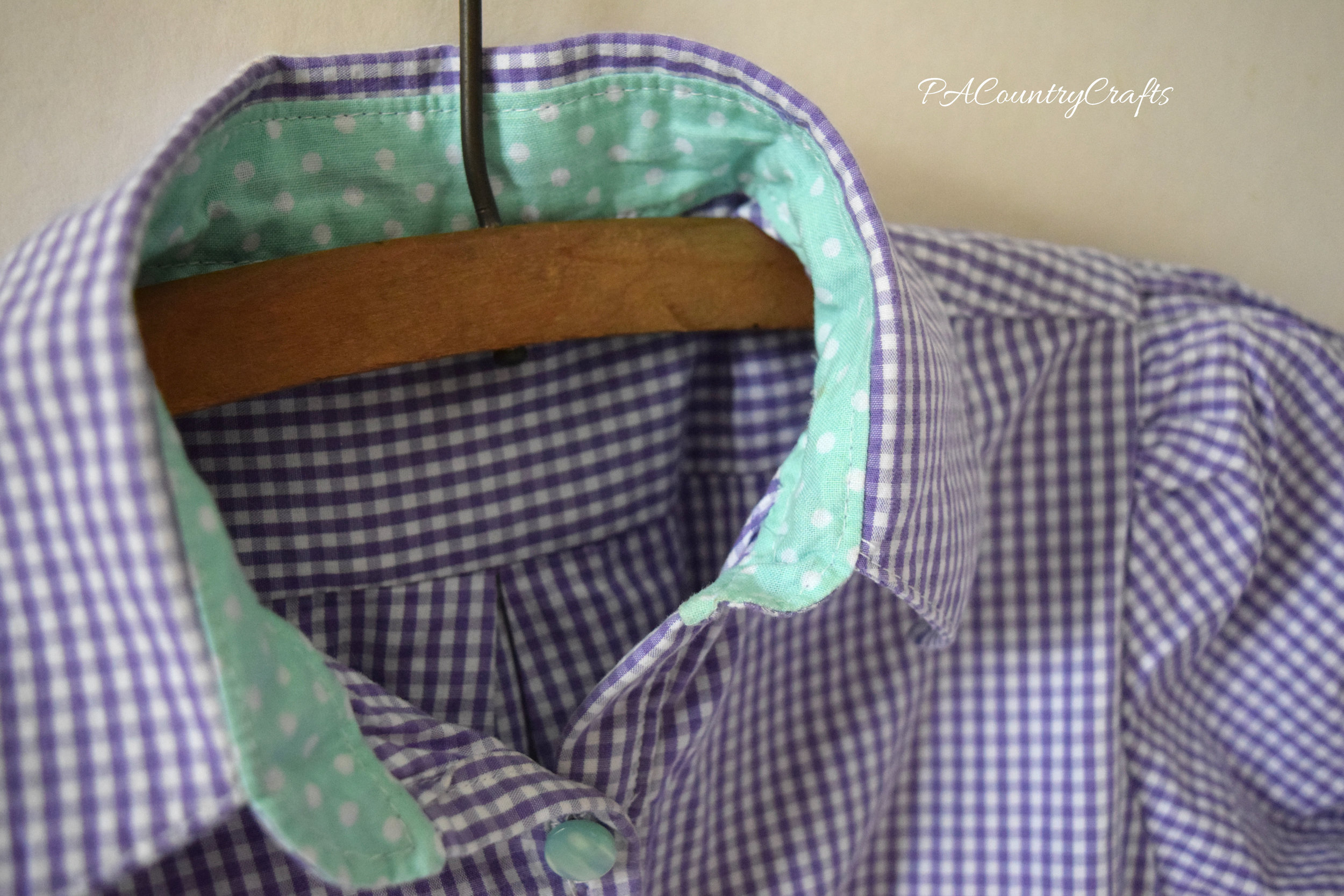 inside shirt dress collar