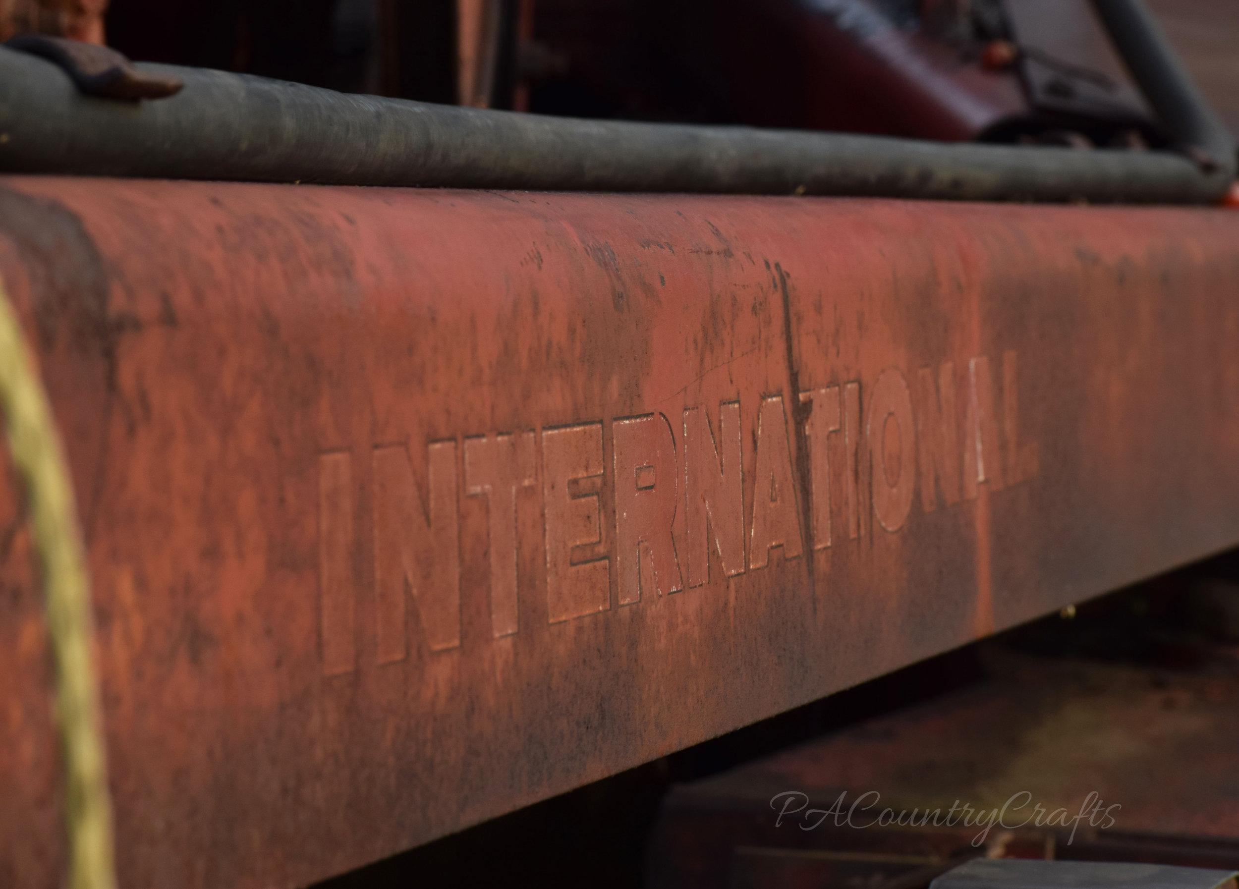 international rusty hay bine