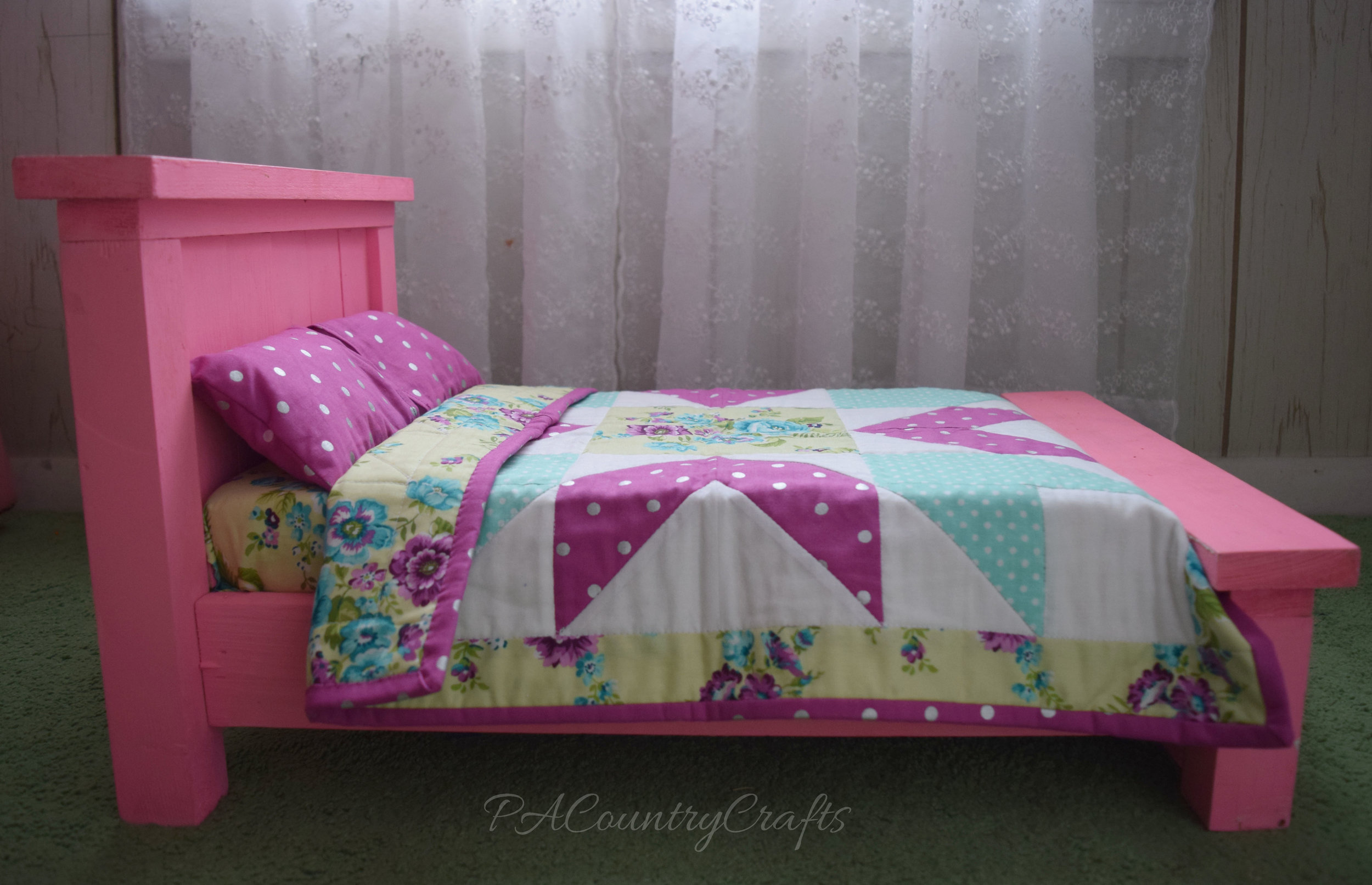 American Girl Farmhouse Doll Bed