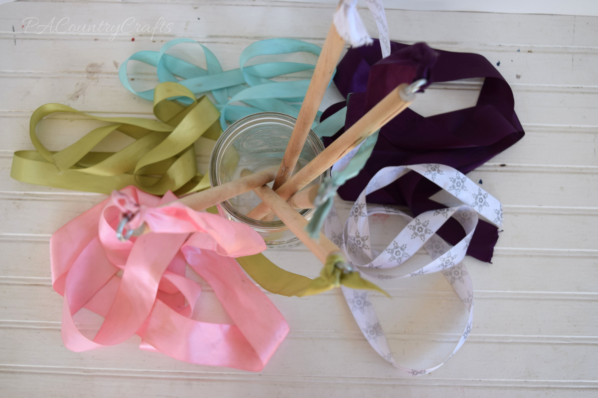 Easy Ribbon Wands- takes just minutes to make!