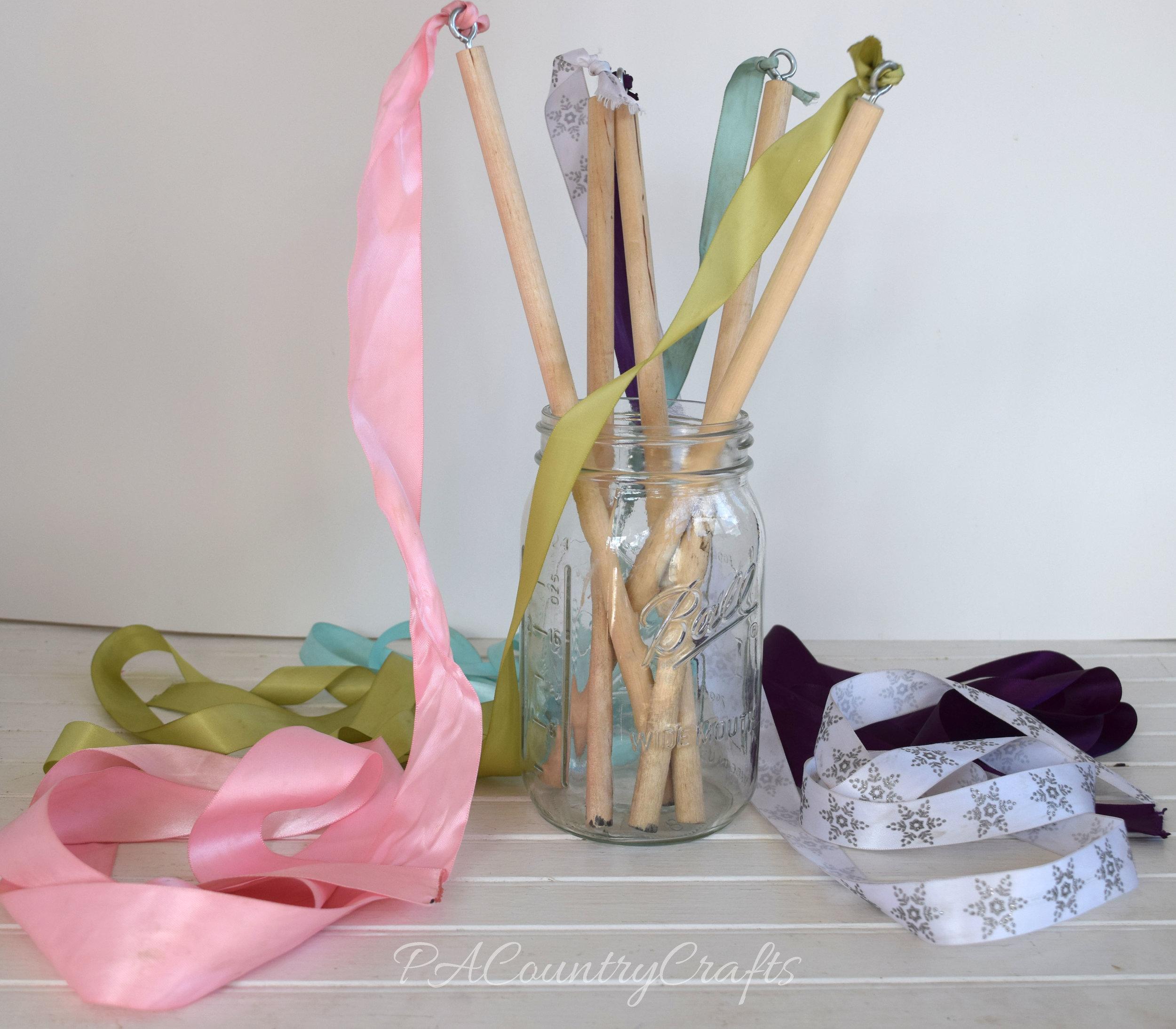Fun ribbon wands kids craft