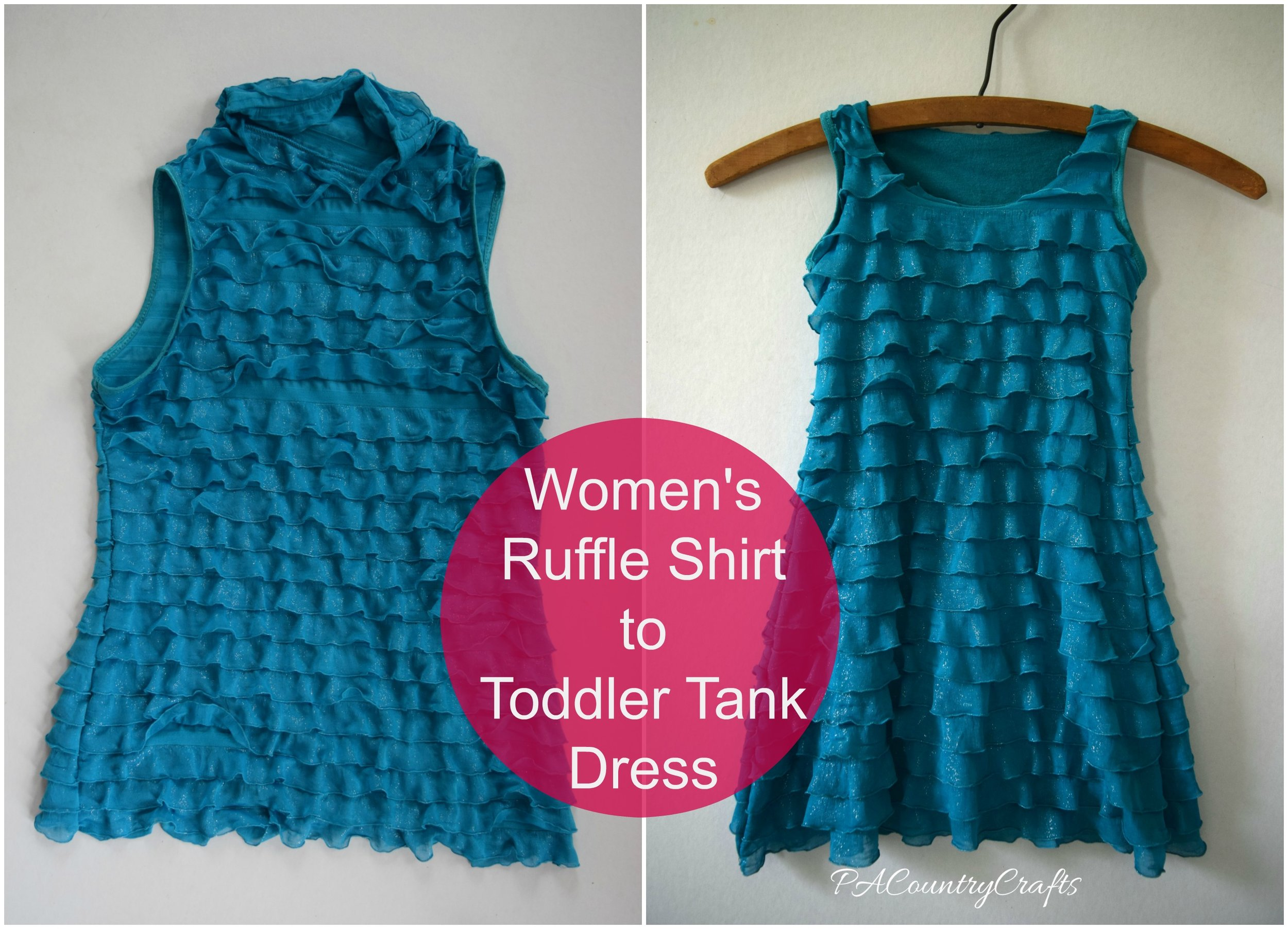 womens ruffle shirt to toddler tank dress