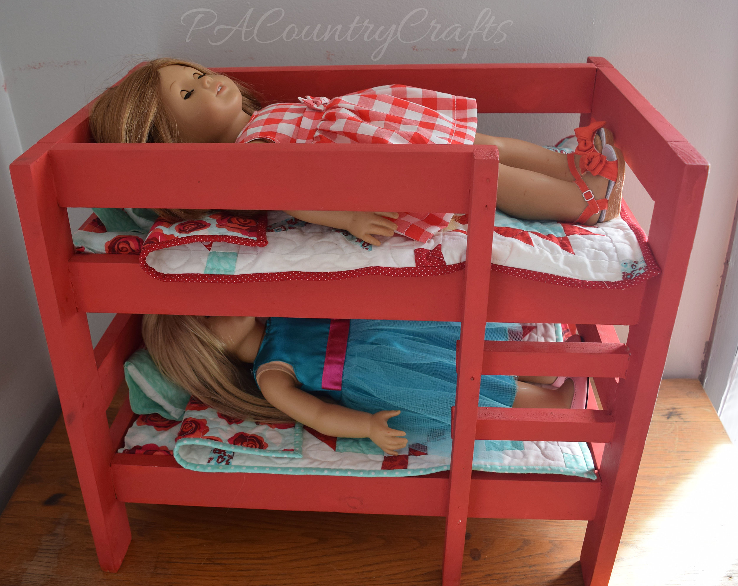 red doll bunk beds