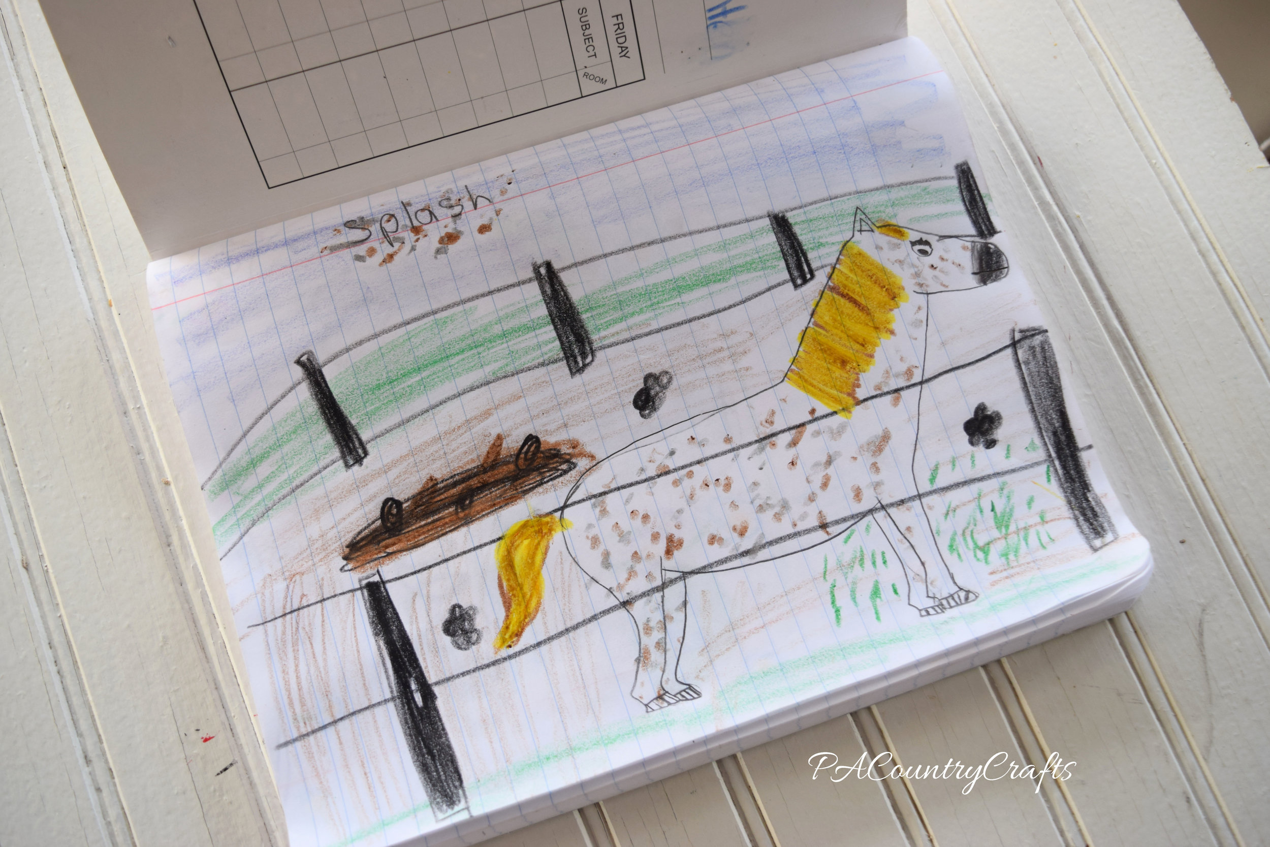 horse-drawing-journal