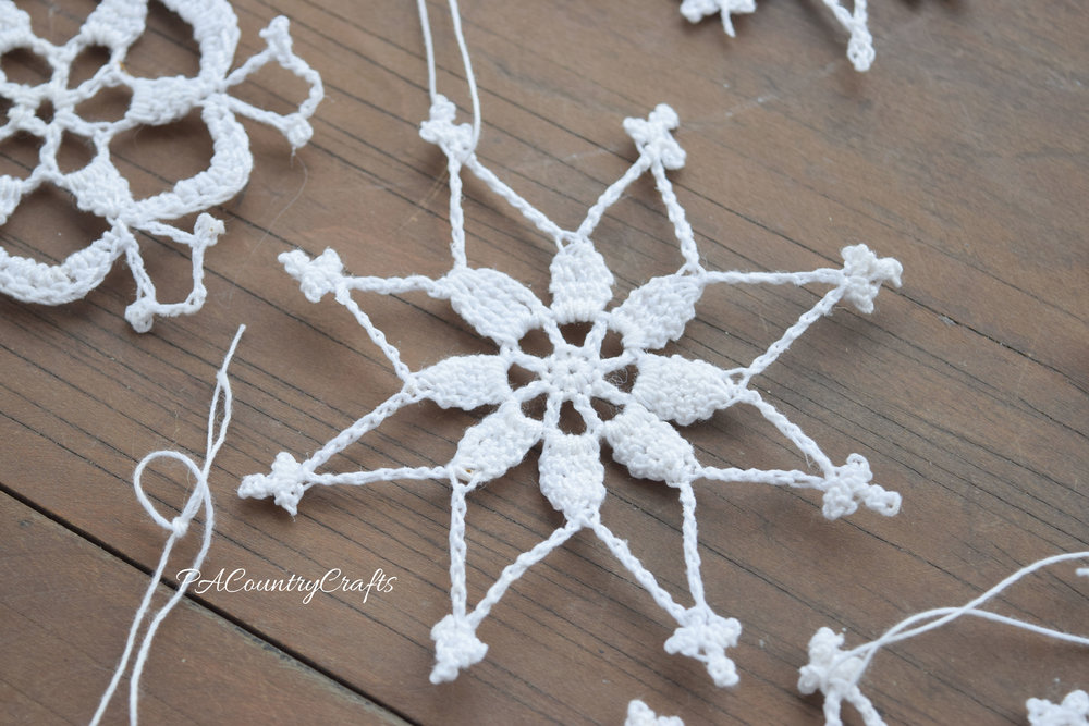 I love this star shaped crochet snowflake!