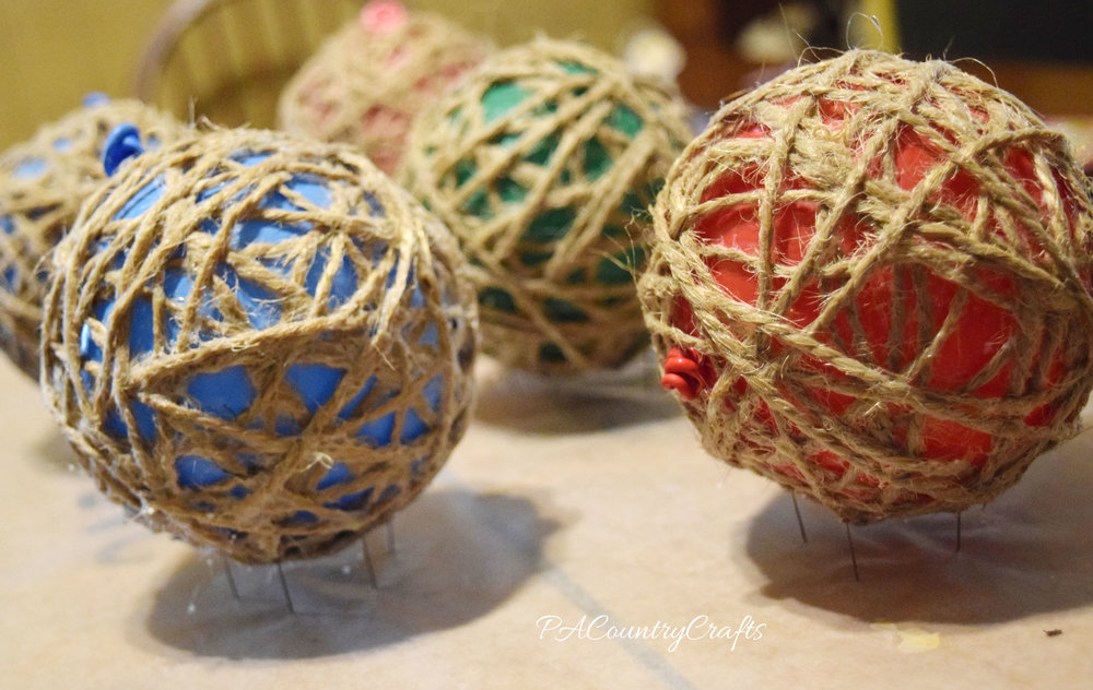 how to make twine balls