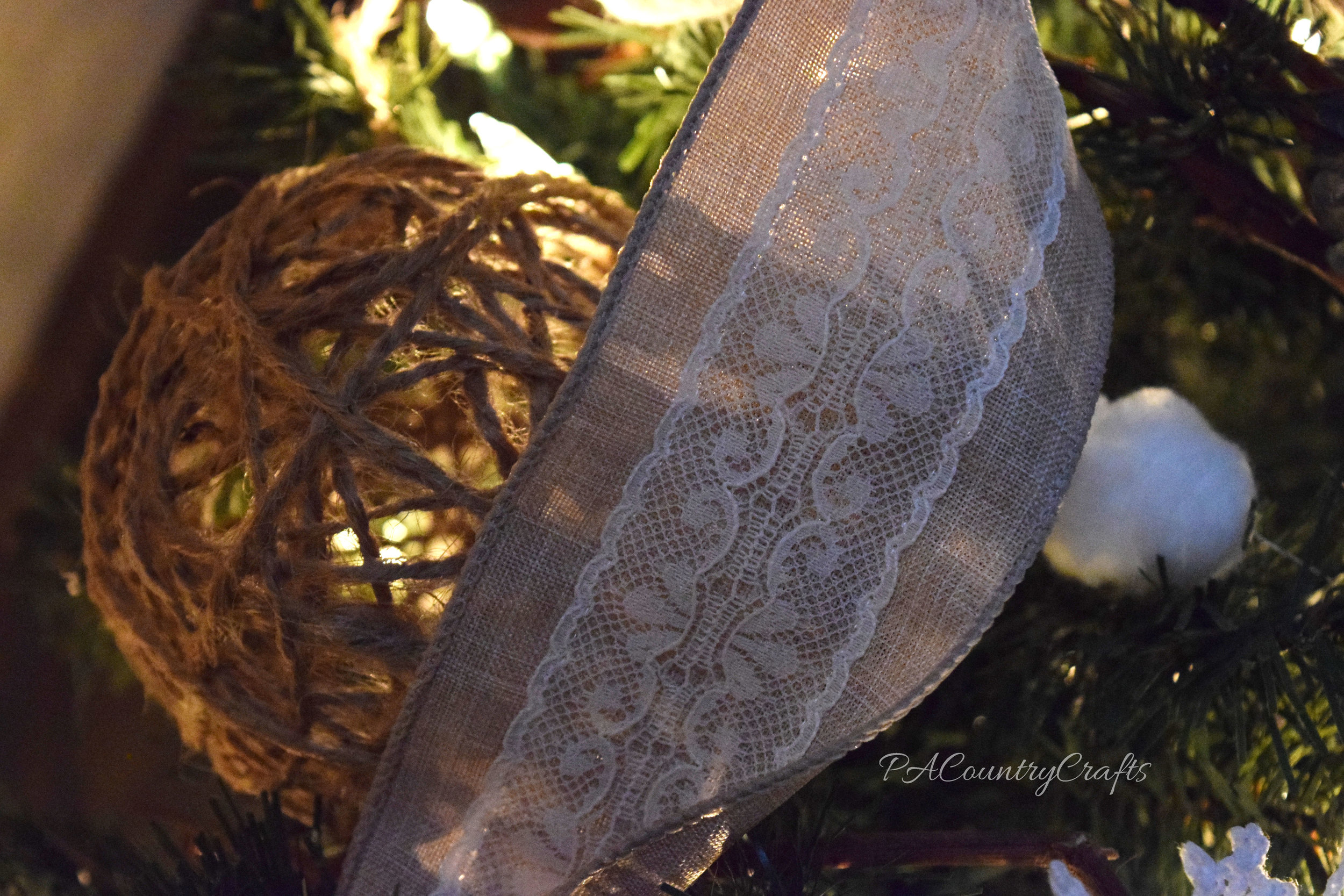 linen and lace ribbon