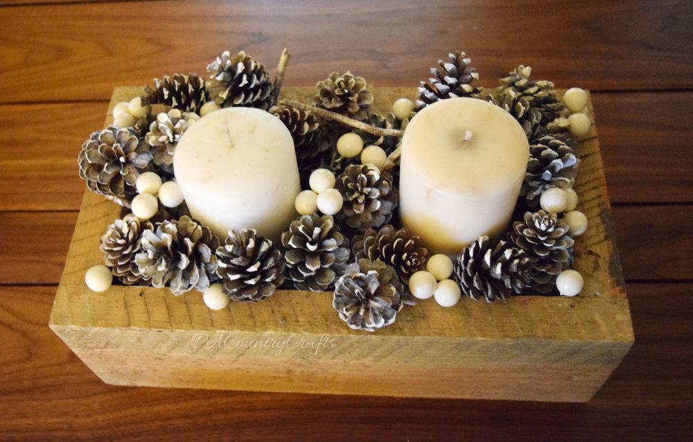 winter pine cone centerpiece