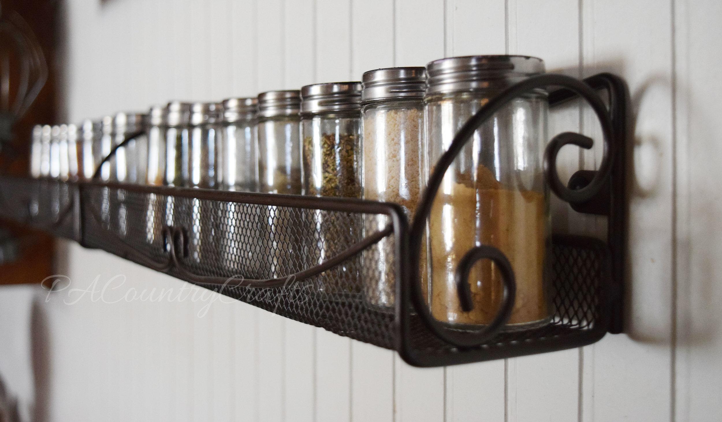 spice rack bottles