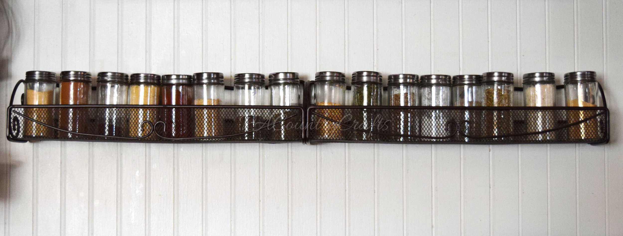 simple wall spice rack