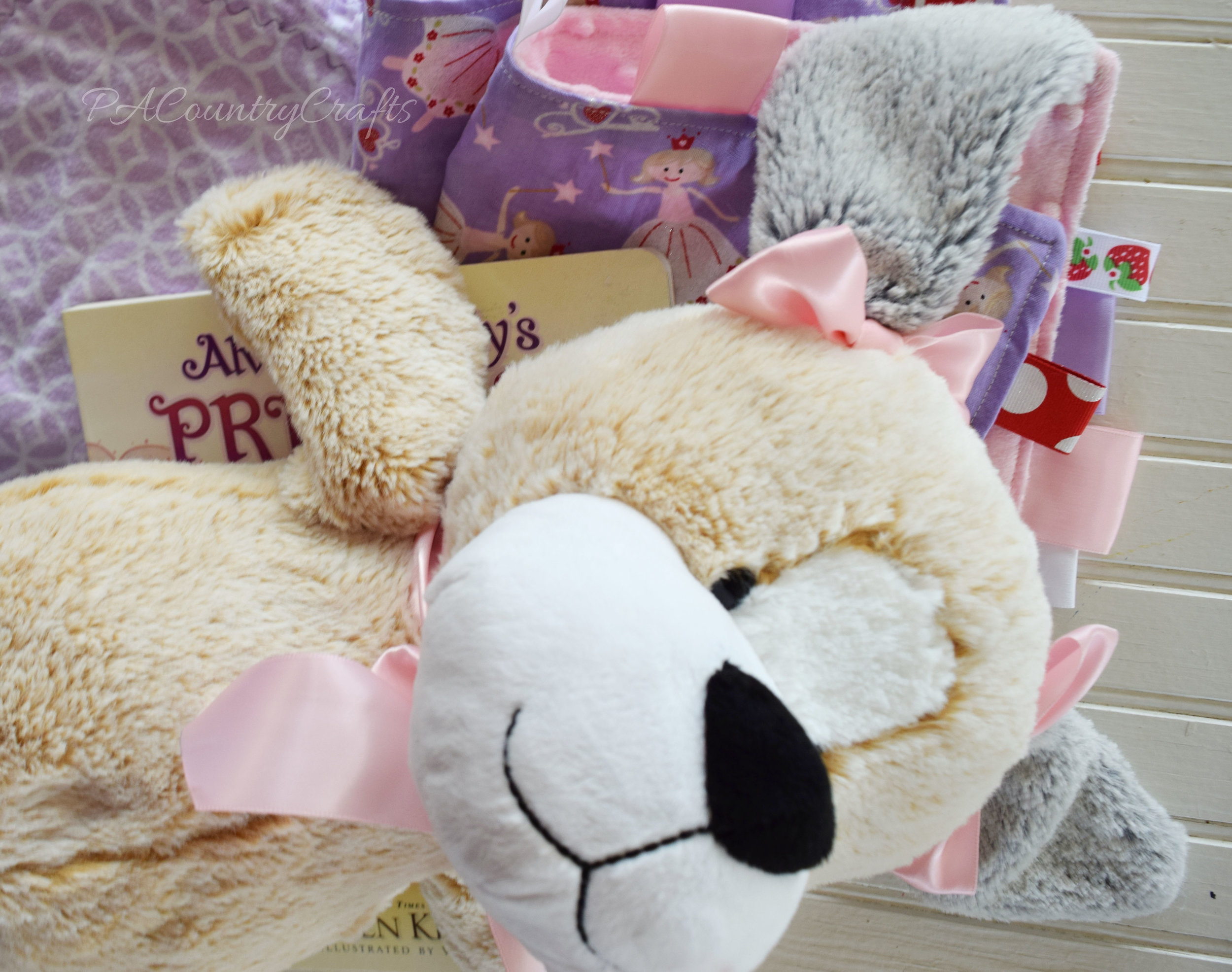 Add ribbon bows to make a stuffed animal match the gift.