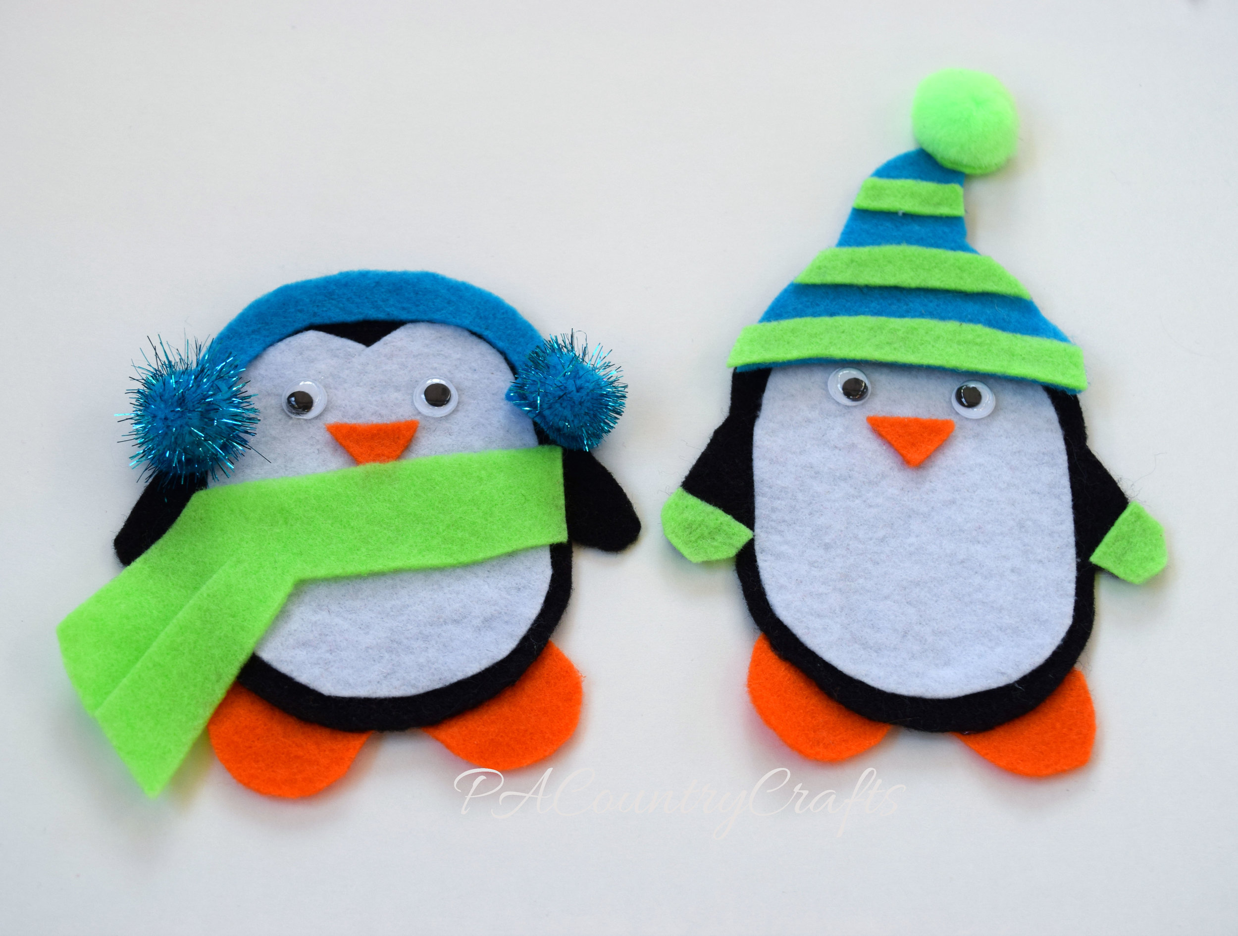 felt dress up penguin busy bag