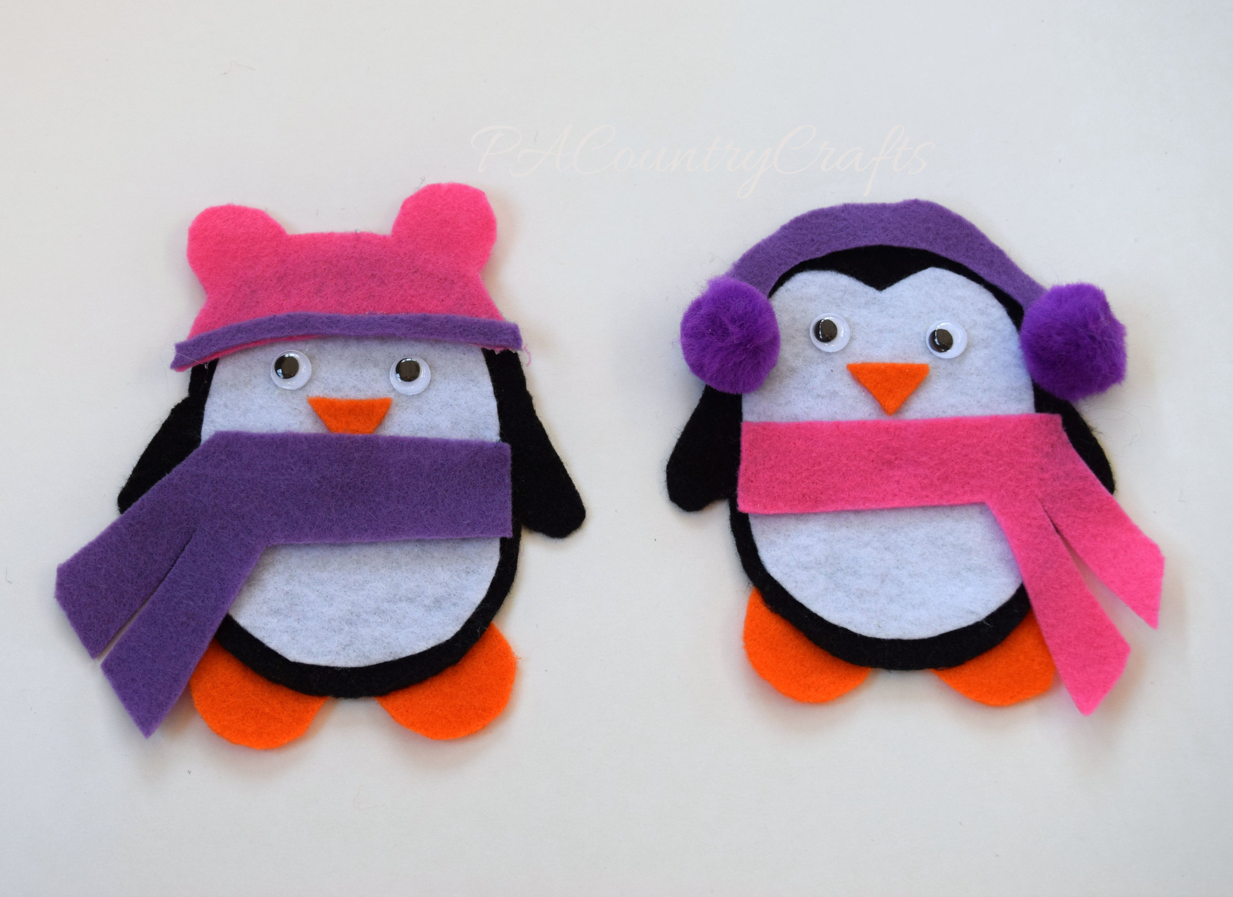 felt penguin dress up game