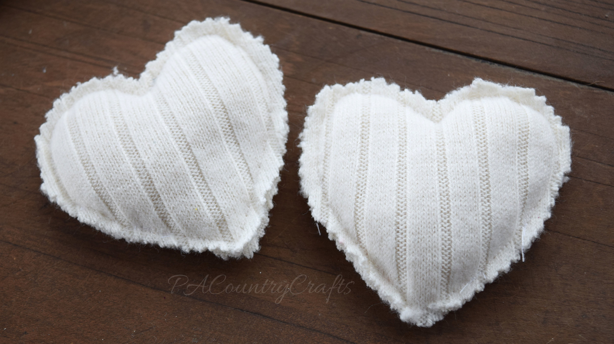 I love these soft hand warmers made from old sweater sleeves!
