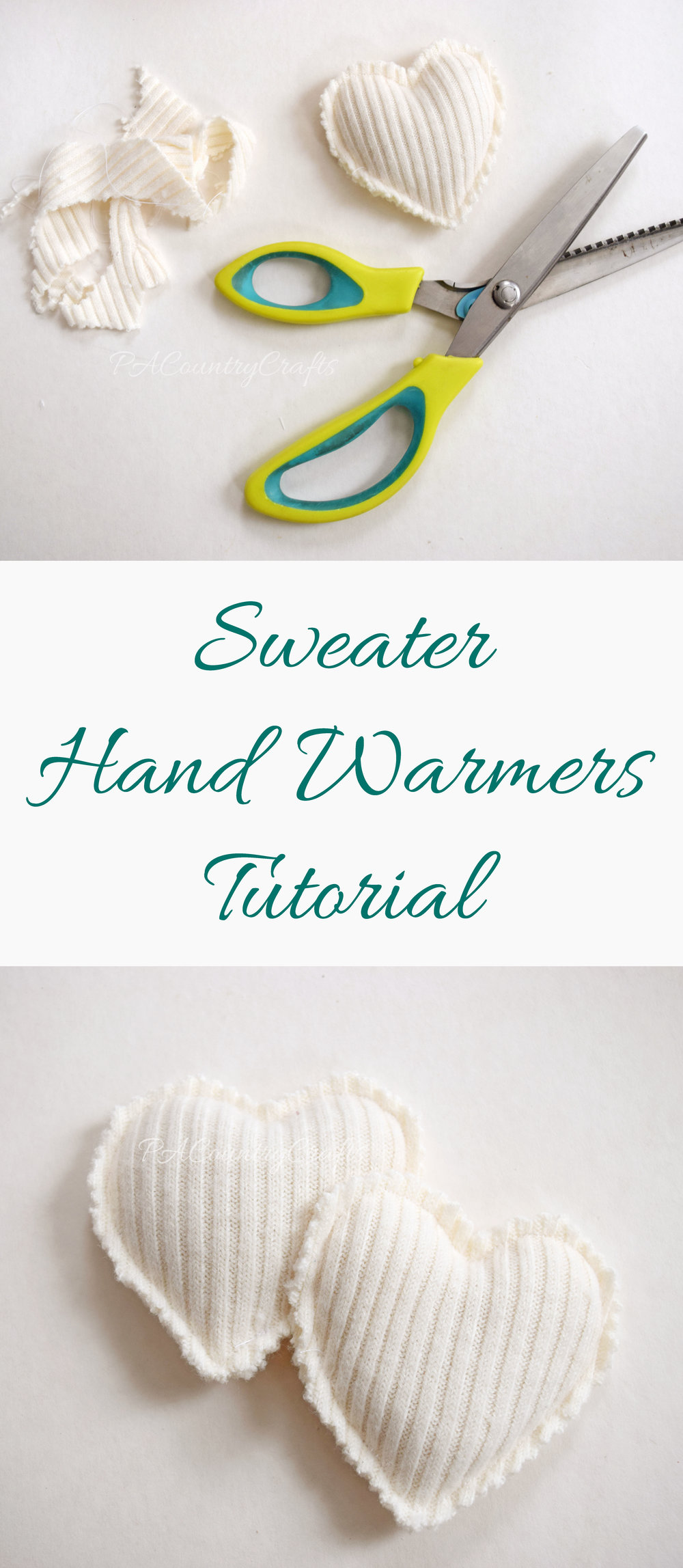 Upcycled Sweater Hand Warmers Tutorial