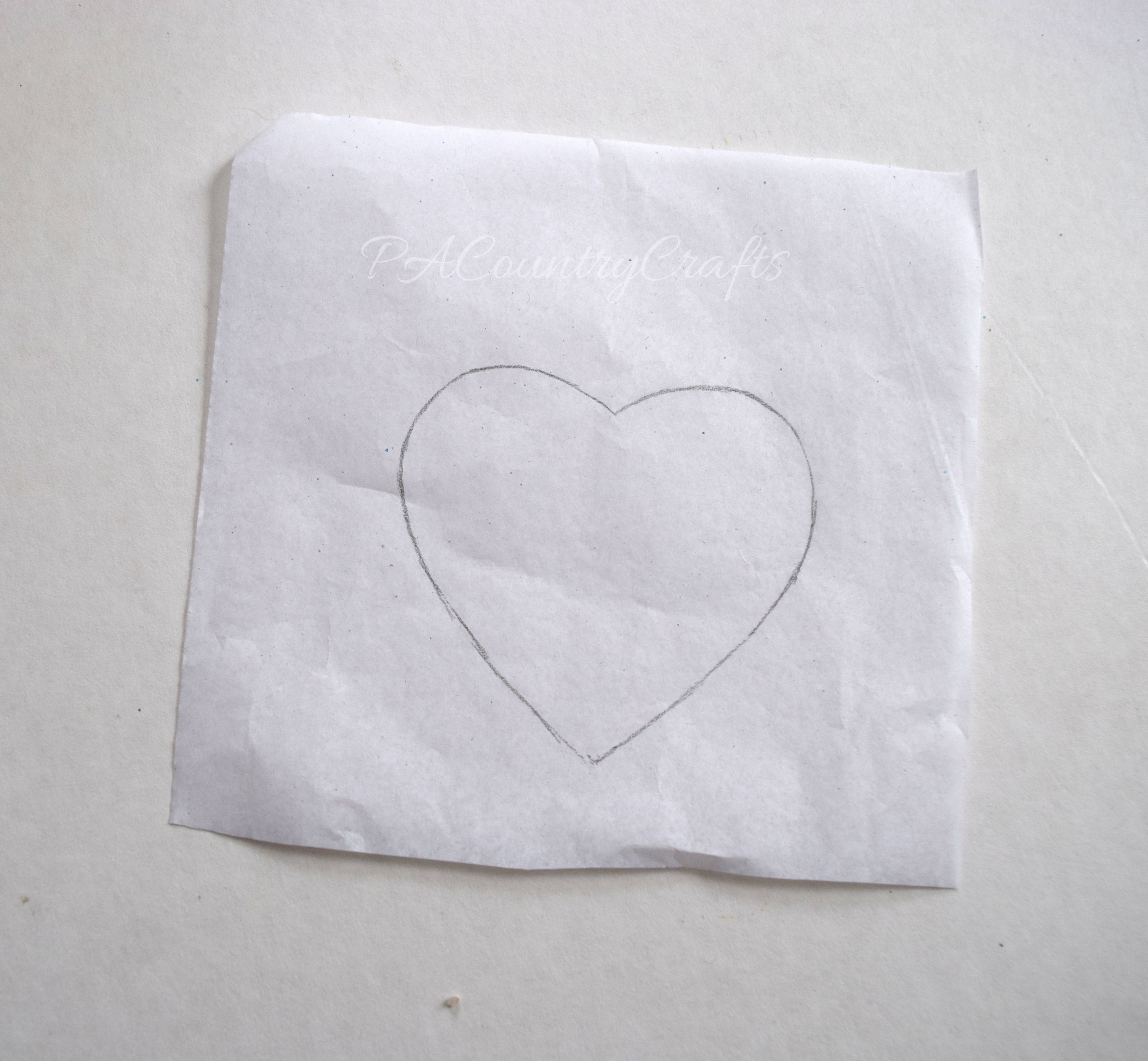 tissue paper template for sewing