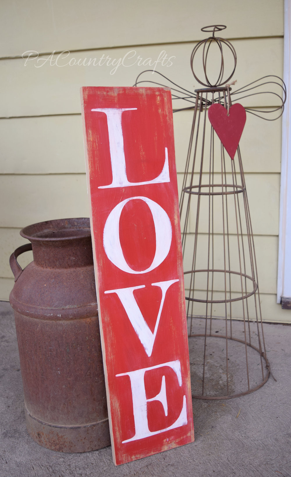 Valentines Day LOVE porch sign