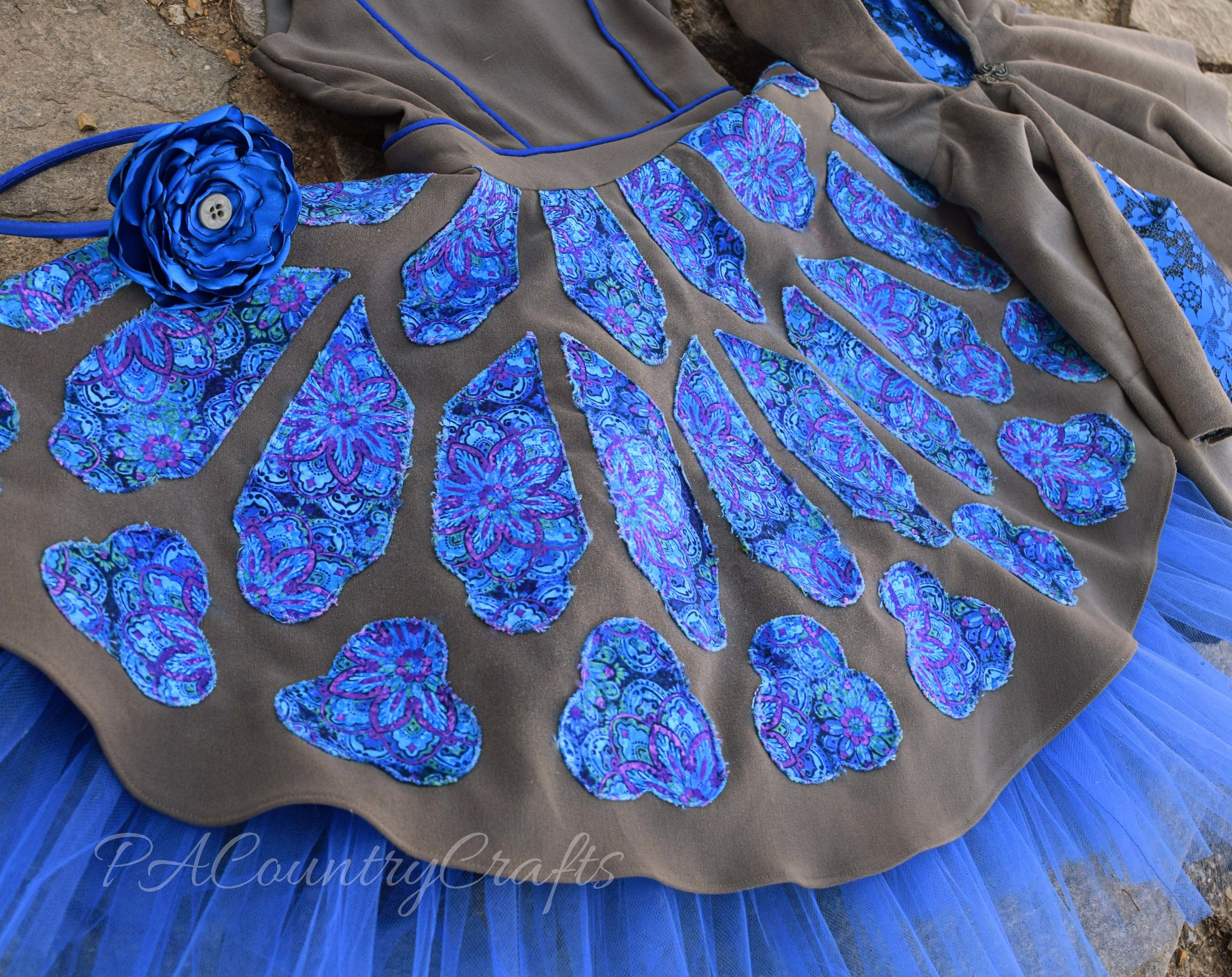 stained glass applique dress