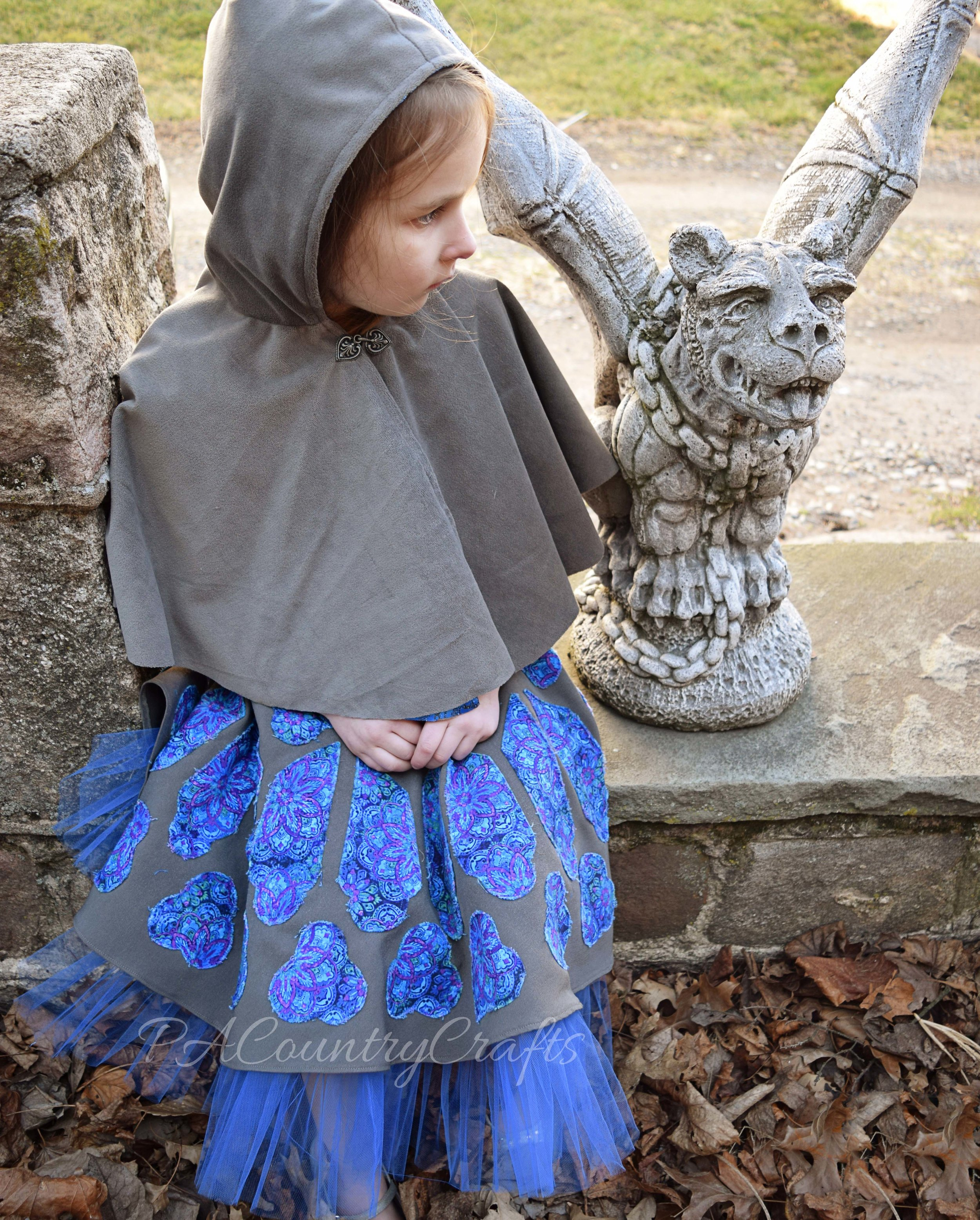 reversible hooded cape