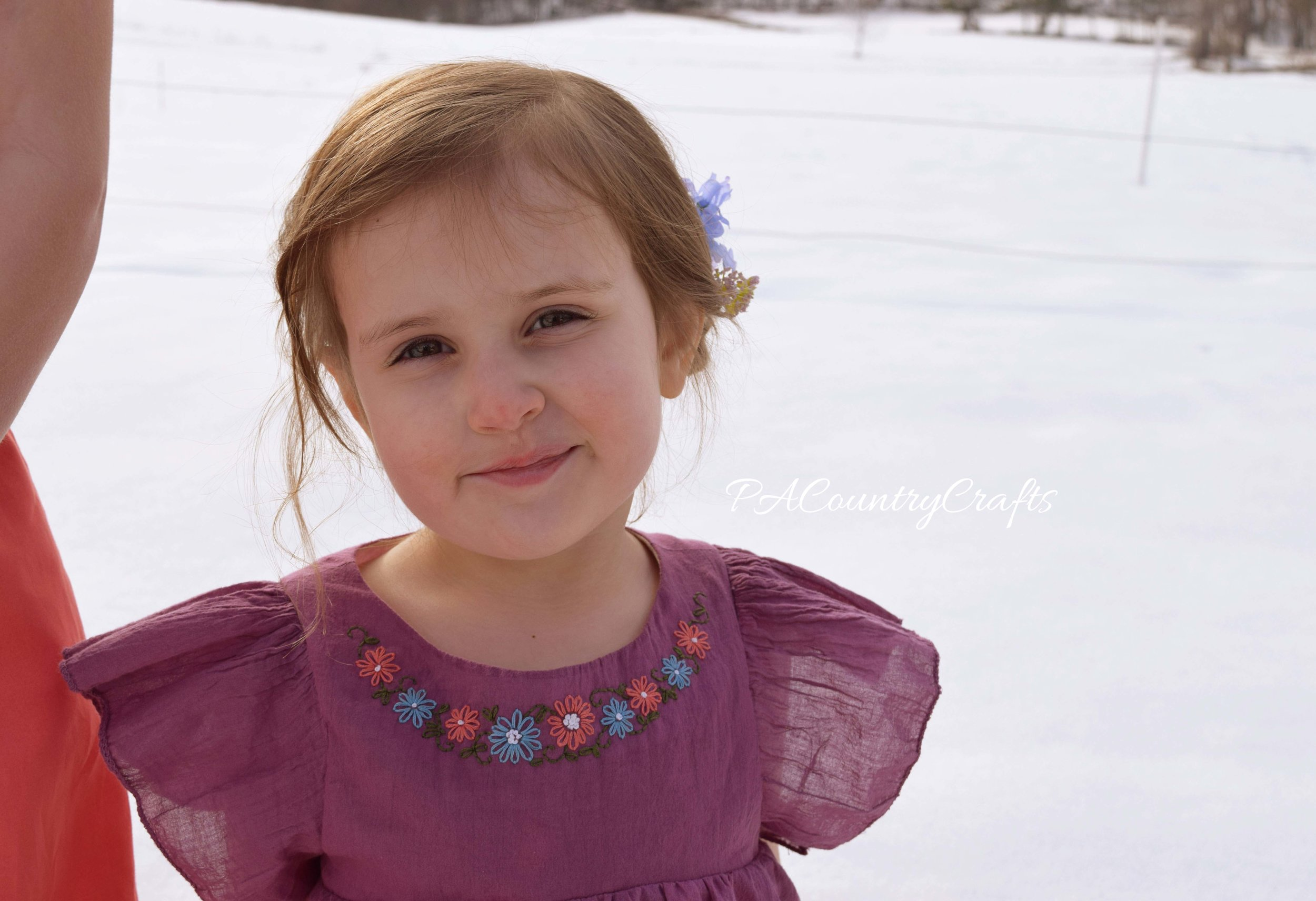 Hand embroidered girls boho tunic