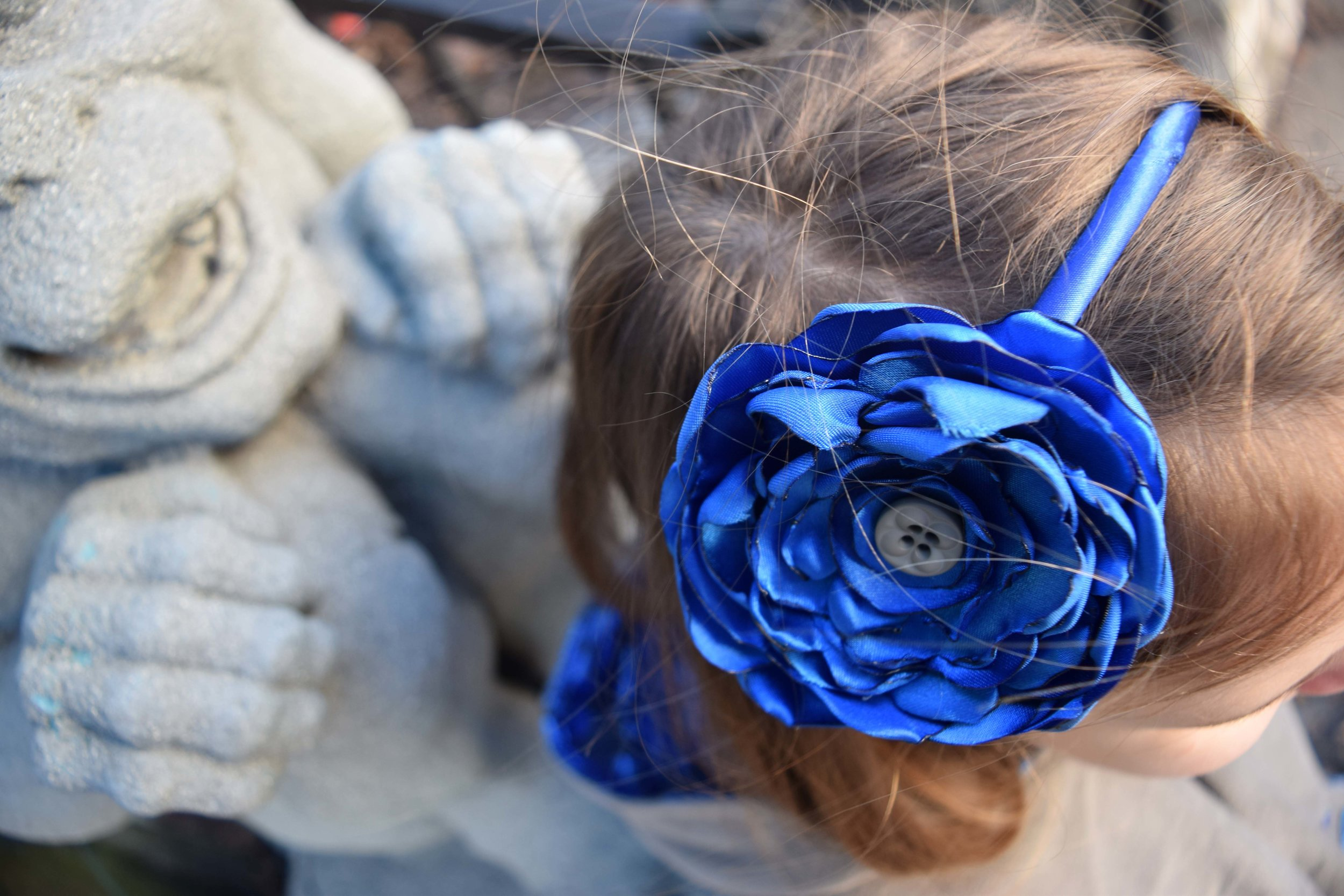 satin flower headband DIY