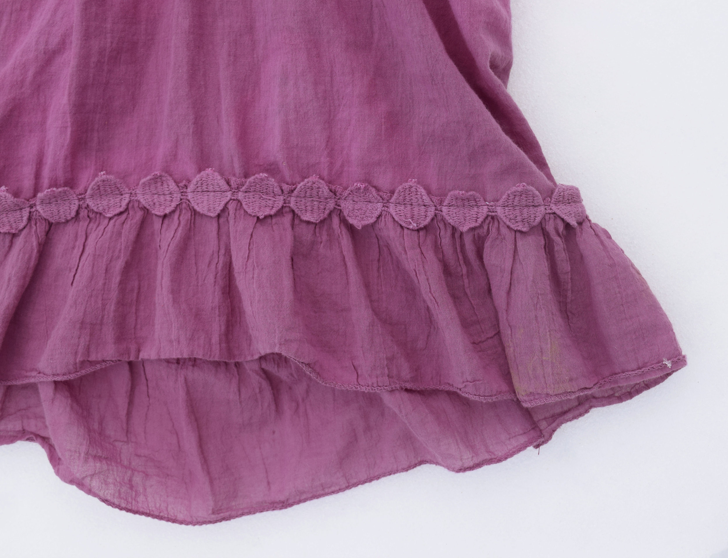 purple hi-low tunic refashioned from a womens shirt