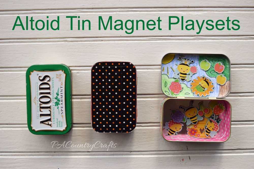 Altoid Tin Magnet Playsets- perfect to tuck into the purse or diaper bag!