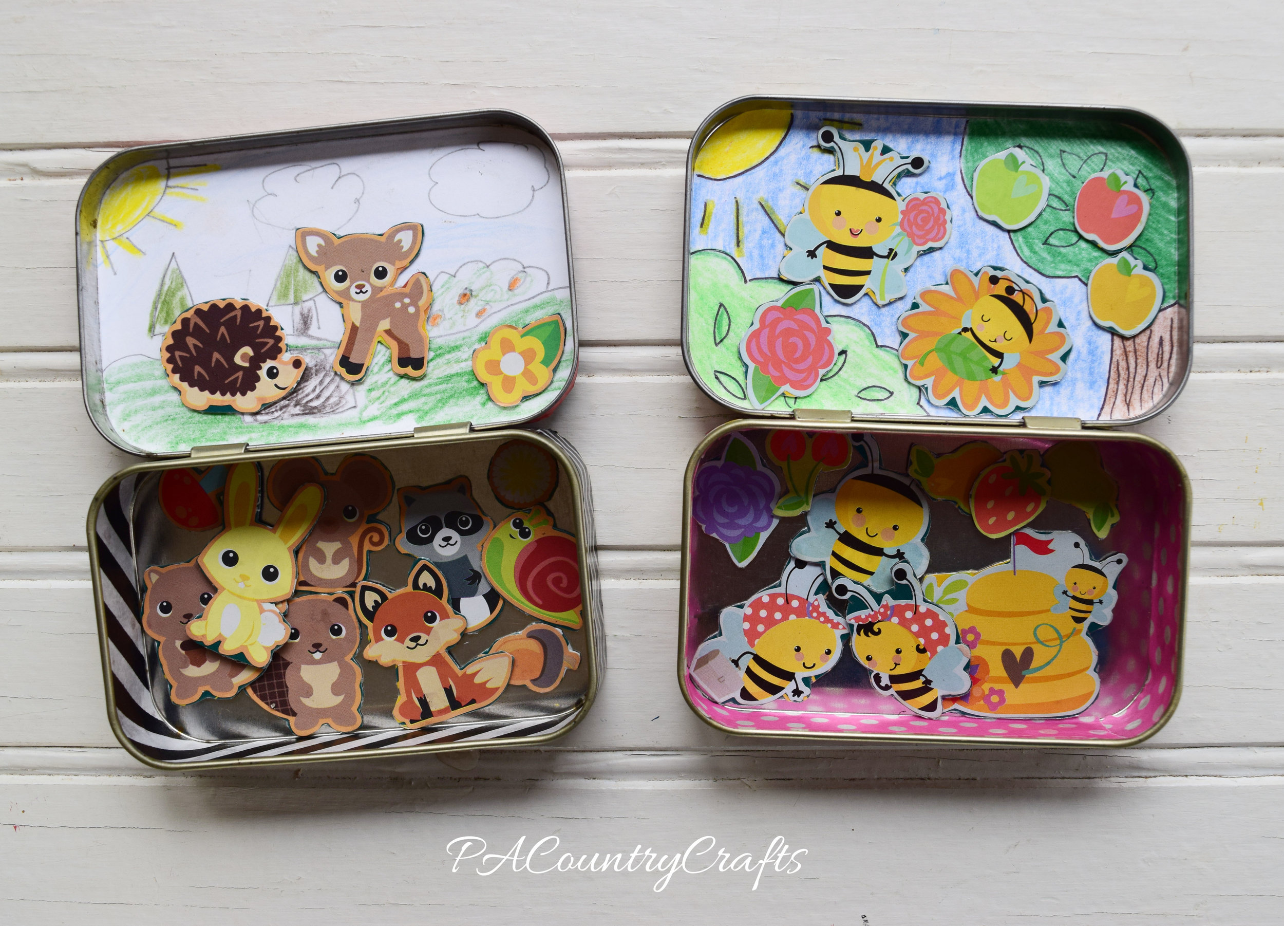 Magnetic Playsets in Altoid Tins- These are great for the kids to make to put in Operation Christmas Child Shoeboxes!