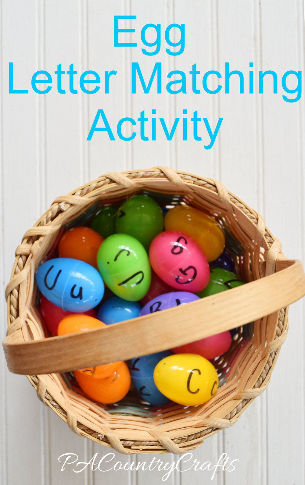 Use plastic eggs for a simple busy bag or learning center activity matching upper and lower case alphabet letters!