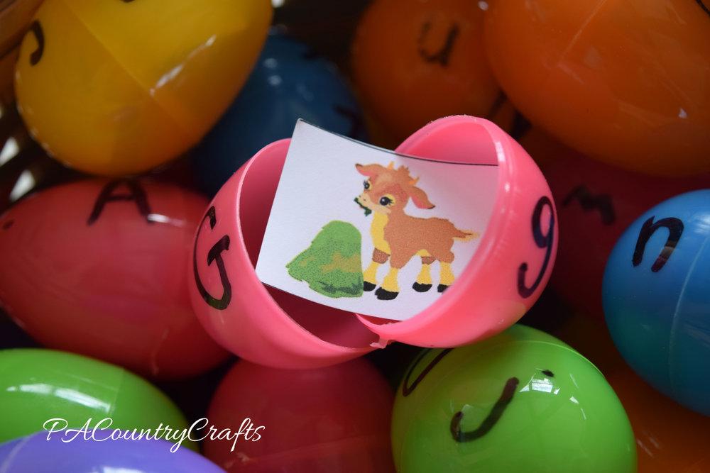Alphabet Egg Busy Bag with free printable