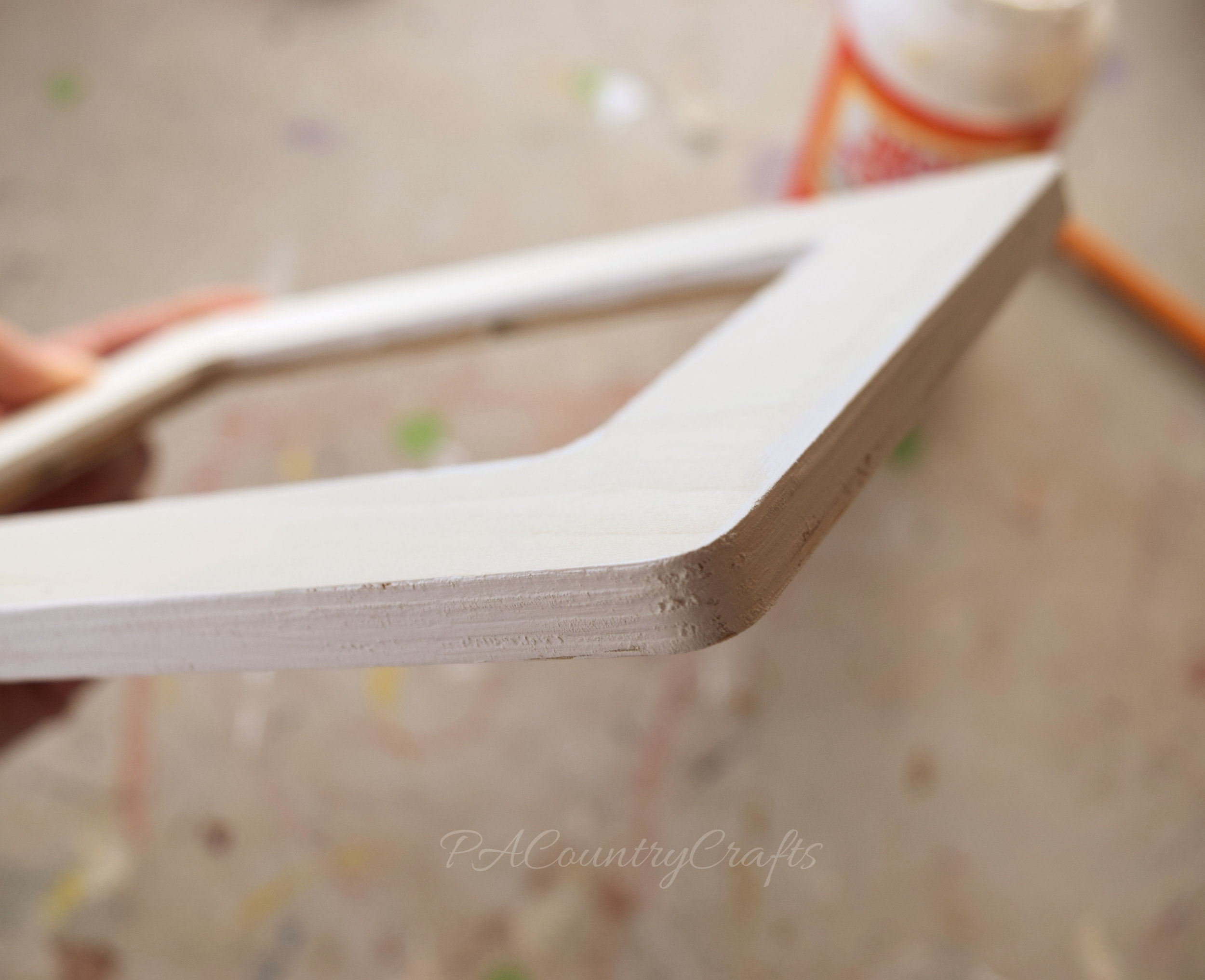 Paint the edges of frames for a nicer finish