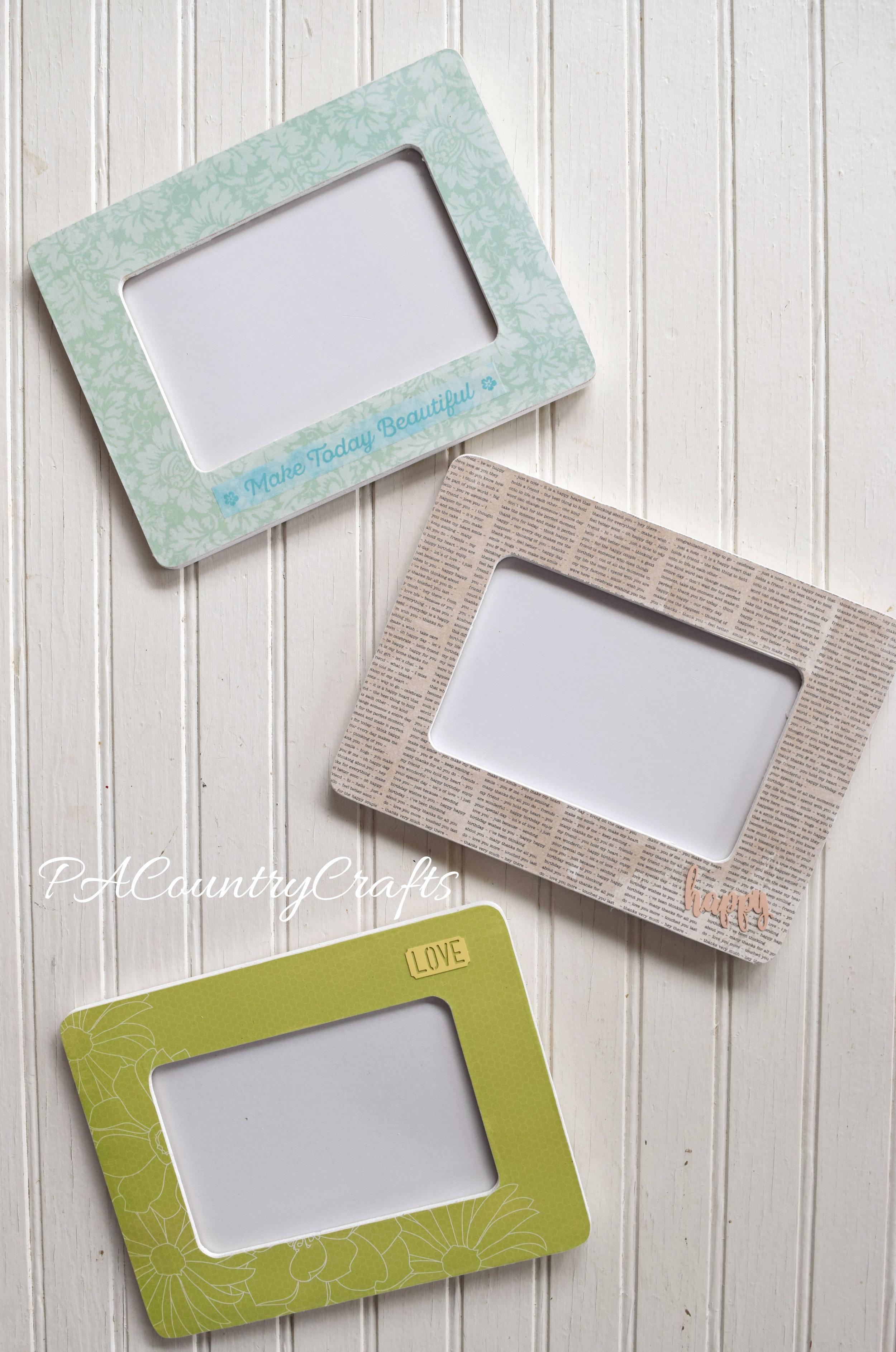 scrapbook paper mod podge frames