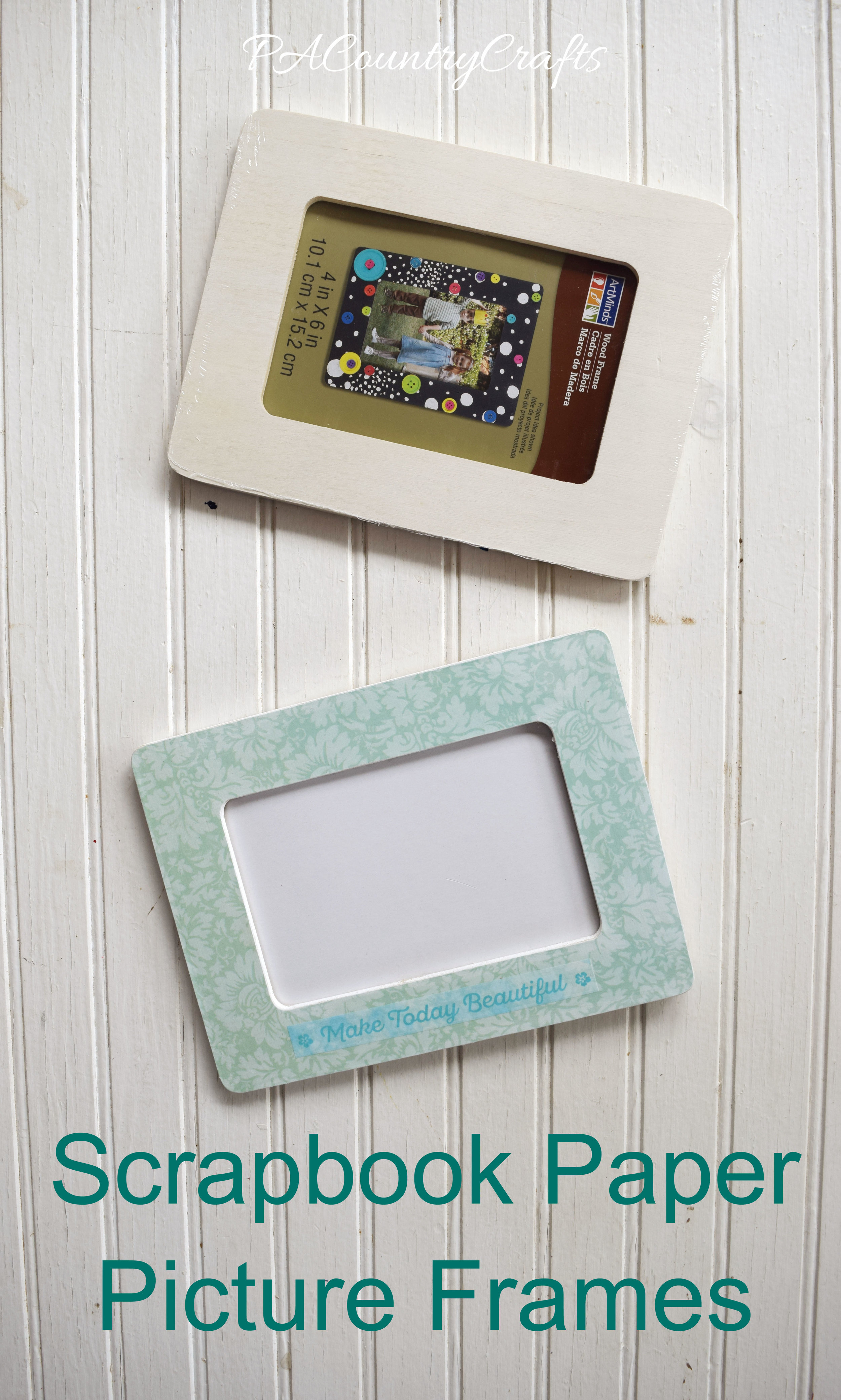 Scrapbook Paper Picture Frame Tutorial Pacountrycrafts