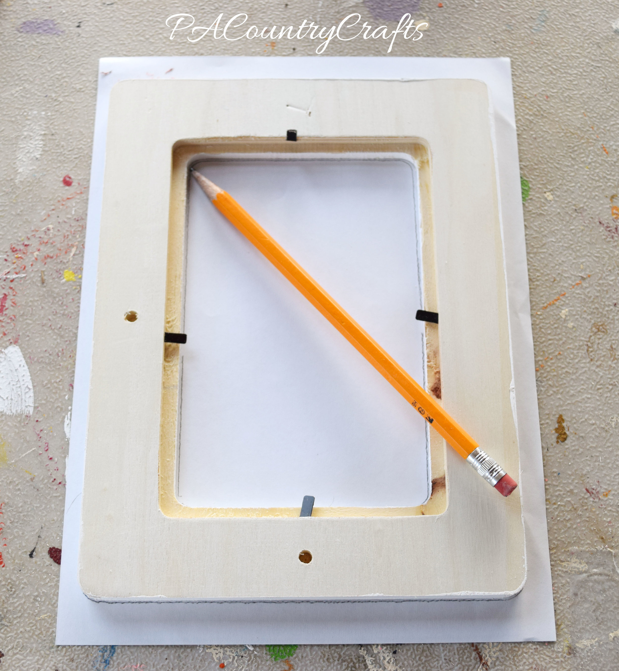 how to make scrapbook paper frames