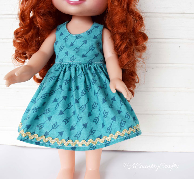 14 inch doll dress free tutorial and pattern