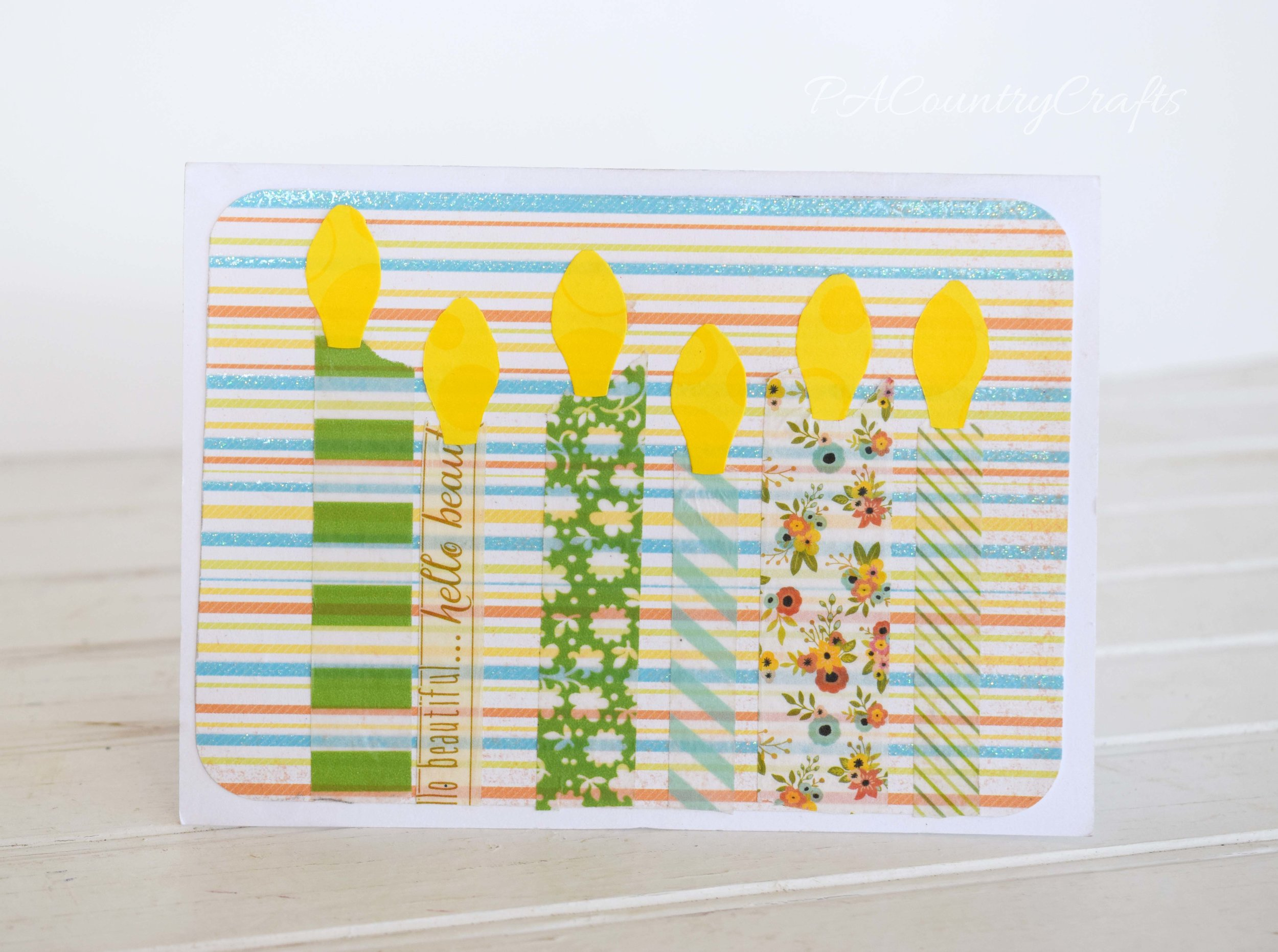 Canlde Washi Tape Card