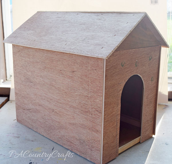 Wooden Toy Doghouse