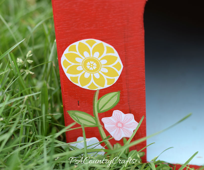 Cut out flowers from scrapbook paper to use in mod podge crafts!