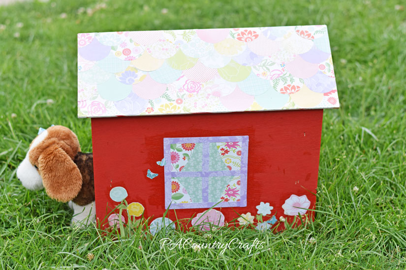 Kids craft toy doghouse makeover
