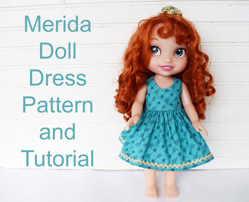 "free pattern and tutorial for a 14"" doll dress"