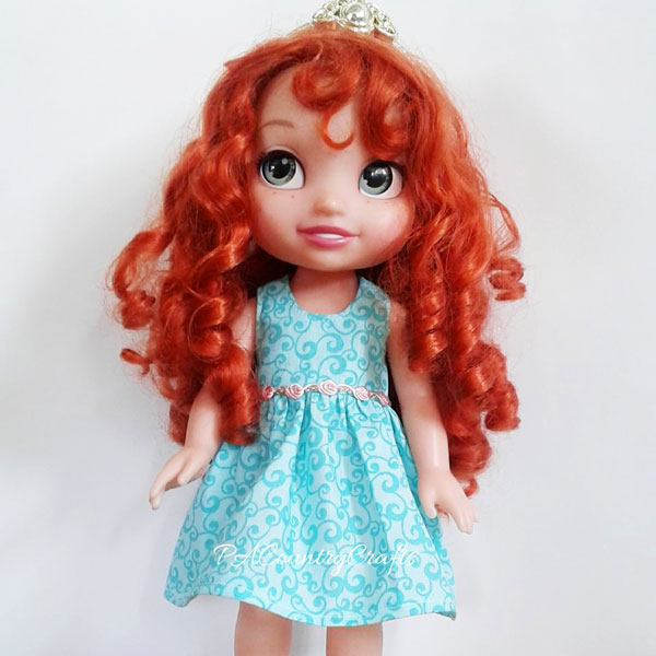 scrap fabric doll dress pattern