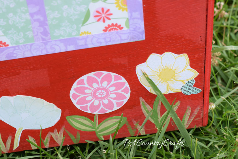 Use floral scrapbook paper to create flowers with Mod Podge!