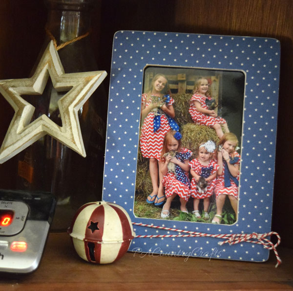 Mod podge picture frames to make seasonal decor!