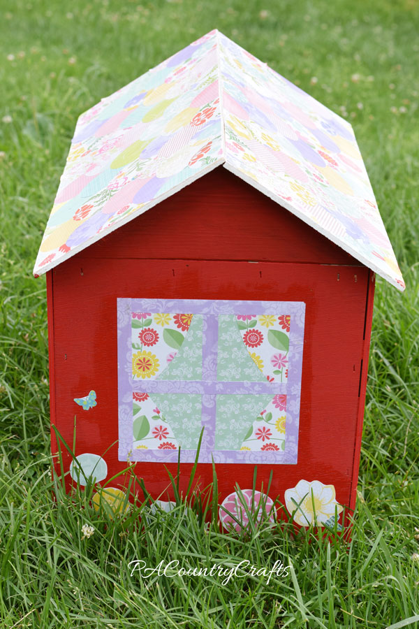 Cute kids craft using paint, scrapbook paper, and mod podge!