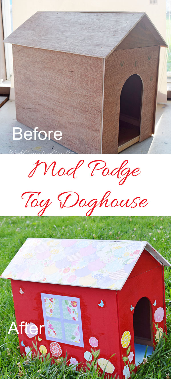 Wow! Look at this toy doghouse makeover!