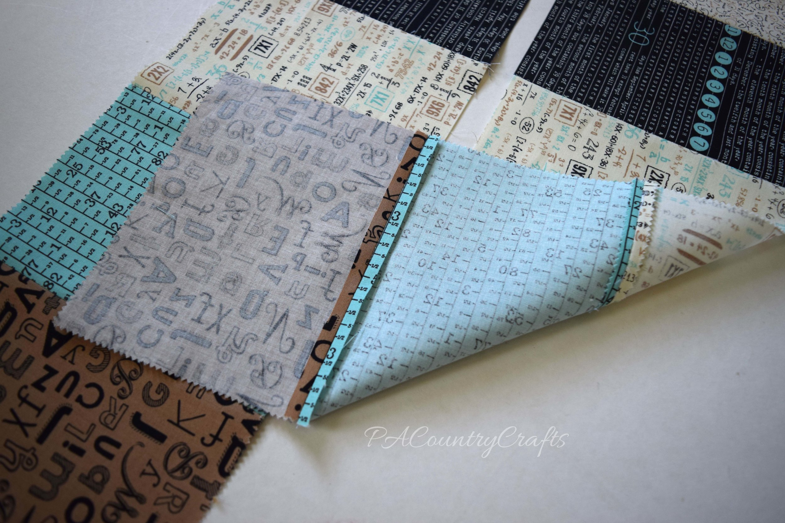 Use squares of fabric to make a DIY spa neck wrap.