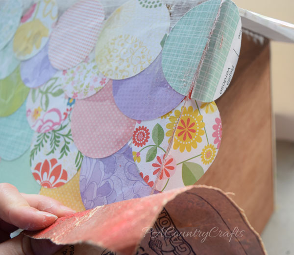 Sand paper edges when using Mod Podge!
