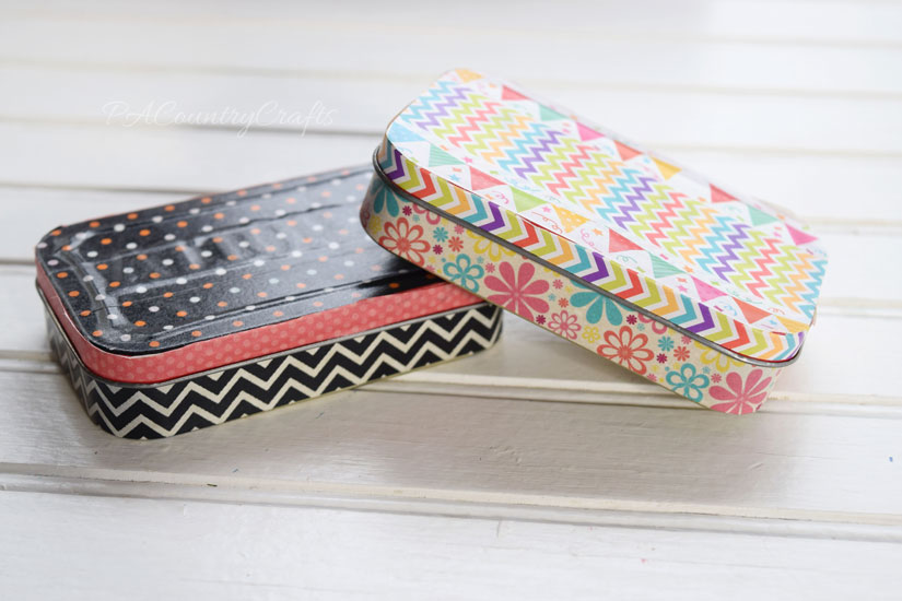 washi tape covered altoid tins - so easy and cute!