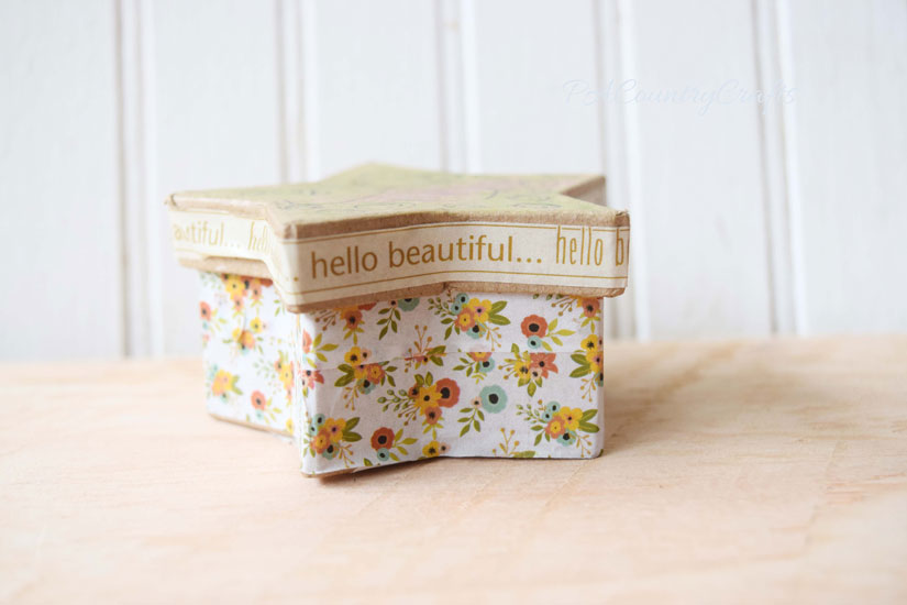 Washi tape is the fastest and easiest way to decorate boxes!
