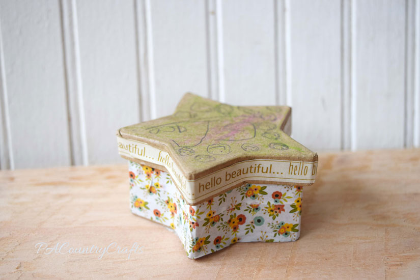 Cover boxes with washi tape- easy kids craft!